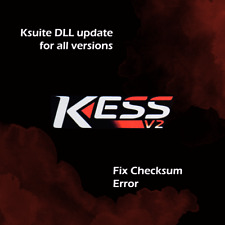 UPDATE FOR KESS Ksuite DLL Latest files Fixing Checksum Error