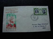 MONACO - enveloppe 23/1/1957 (cy34)