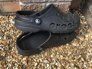 Adults Mens Womens Crocs Classic Cayman Clogs Uk 8 - 10 Black