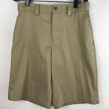 Boys Khaki Shorts School Uniform Tan Slazenger Adjustable Waist Size Large