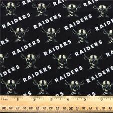 RAIDERS NFL Football 100% Cotton Fabric Material 19