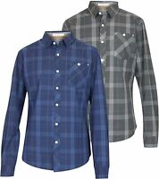 Mens New Crosshatch Check Cotton Casual Dress Shirt Long Sleeve Collar
