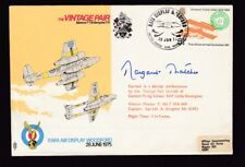 AIr Show WOODFORD 1976 Vintage Pair personally SIGNED MARGARET THATCHER