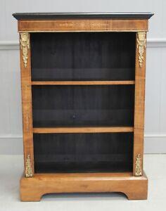 A Walnut Open Bookcase