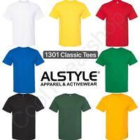 Triple A-Apparel 1301 AAA Short-Sleeve Plain Blank Basic T-Shirts-All Colors