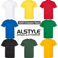 AAA ALSTYLE Men's Plain Crewneck Classic Short Sleeves T-shirt 1301