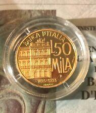 MONETA ORO - CONIAZIONE AUREA 1994 - LIRE 50.000 - Banca d'Italia