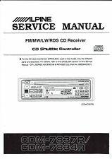 Alpine  Service Manual  für GDM - 7837 / 7834 R englisch