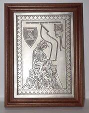 New listing Vintage Walther von der Vogelweide Pewter Hanging Picture wall art plaque