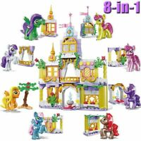 My Little Pony Frienship Castle 8in1 Brick Minifigures MLP Crystal Ponies 272pcs