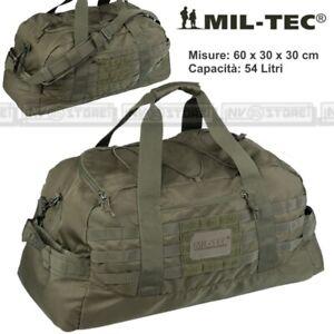 Borsa Borsone Tracolla MILTEC Combat Parachute Cargo Bag Militare Softair VERDE