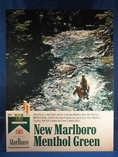 Vintage Magazine Ad Print Design Advertising Marlboro Menthol Green Cigarettes