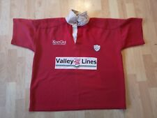 CAERPHILLY,WALES RUGBY MATCH WORN PLAYER RUGBY SHIRT /JERSEY/MAILLOT/- RARE-LOOK