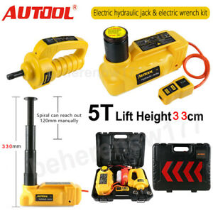 5 Ton Car Electric Jack Hydraulic Electric Floor Jack with Impact Wrenches Kit