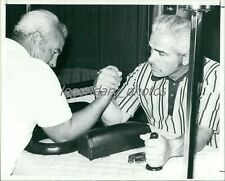 1970s Larry and Bob Jeffrey Arm Wrestling Pioneers Original News Service Photo