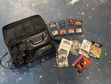 Sega Game Gear Console case extras Bundle 8 games Sonic Kombat Vintage Batman