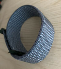 Grey Nylon Woven Strap For Apple Watch Series1/2/3/4/5/6 42-44mm Sport Loop Band