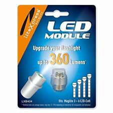 LiteXpress LXB404 LED Upgrade Module, 360 Lumens for 3-6 C/D Cell Maglite Torche