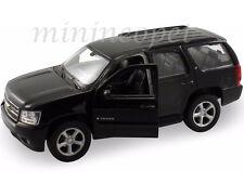 WELLY 22509W-BK 2008 08 CHEVROLET TAHOE SUV 1/24 DIECAST MODEL CAR BLACK