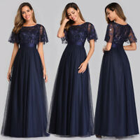 Ever-Pretty Short Sleeve A-Line Bridesmaid Dress Long Party Evening Gown 00904