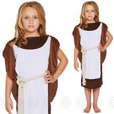 GIRLS VIKING FANCY DRESS COSTUME WARRIOR SAXON HISTORICAL OUTFIT KIDS CHILDS