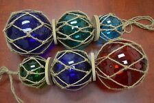 "2 Pcs Assort Trio Glass Float Fishing Ball Buoy 3"" 4"" 5"" #F-900/48"