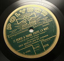 BEN BERLIN & HIS ORCHESTRA Son altesse l'amour 1930 polydor 23730 78 rpm EX++