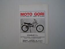 advertising Pubblicità 1973 MOTO GORI SCRAMBLER 50 4V