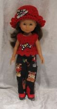 "LES CHERIES Corolle 13"" Doll Clothes #31 Top, Hat & Pants Set  14"" Betsy McCall"