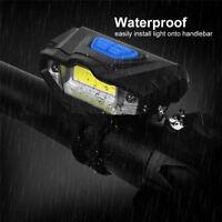 Nuevas Luces Delantera Bicicleta Brillante Carga USB Linterna Linternas Antorcha