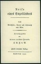 1790 Schmähschrift Reise über München Mannheim Bayern Österreich Wien Chronik RP