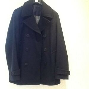 Marks and Spencer Navy Pea Coat Wool Mix Navy Mens Size Small New Tags £99