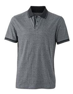 Polo Shirt  Arbeitsshirt  Image Poloshirt  Arbeitshemd Polohemd grau/schwarz