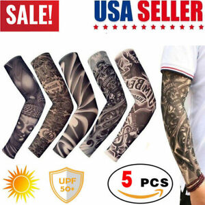 Women and Youth Cooling Black Elbow Pad Tattoo Arm Cover UV Sun Protection for Basketball Sports Mangas para Brazos by BYB Arm Sleeve for Men