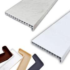 WEI�Ÿ/MARMOR FENSTERBANK INNENFENSTERBANK Fensterbrett Kunststoff PVC + Endkappe