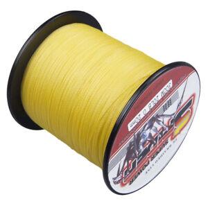 Spider 100M-2000M Yellow Super power Dyneema Braided Fishing Line 6LB-300LB