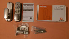BRITON 9160 PUSH BUTTON MECHANICAL DIGITAL DOOR LOCK BRASS****