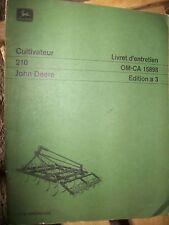 John Deere cultivateur 210 : notice d'entretien a3