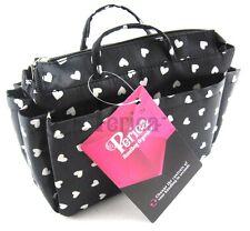 Periea handbag organiser,insert ,tidy,organizer, Black&white hearts small- Sash
