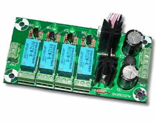 Audio Input Selector Relay Board, With 12V regulator - UK SELLER #869