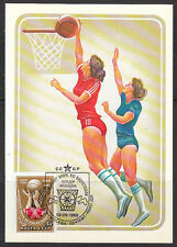 Russia 1986 Maxi Card FDC Womens Basketball championship.Only 15000 issued !