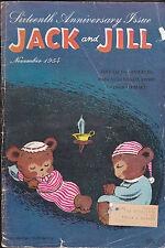 Jack and Jill Magazine Cartoon Bears Hibernating Cover COMPLETE November 1954