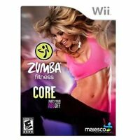 NEW Zumba Fitness Core Nintendo Wii Exercise Work Out Game *SEALED*