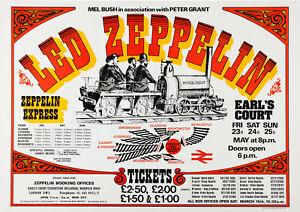 "Led Zeppelin ""Physical Rocket"" Earl's Court  (1975) - Concert Poster Wall Art"