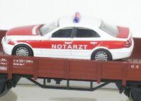 H0 Niederbordwagen DB m. MB PKW Notarzt Märklin 00752-12 NEU OVP