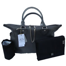 GENUINE CHAMELEON MONACO LEATHER TWO TONE CHANGING BAG WITH ACCESSORIES BNIP