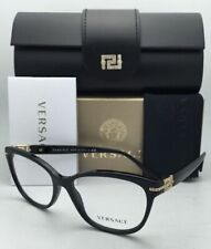 New VERSACE Eyeglasses VE 3205-B GB1 54-16 Black & Gold Frames with Crystals