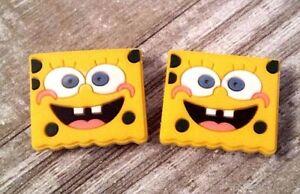 Croc shoe charms (2) Spongebob Squarepants
