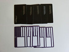 S.T. Dupont Paris Blanko schwarze Echtheitszertifikat Karten 5er Pack NEU