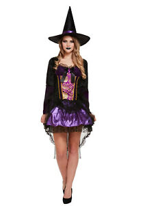 Halloween Deluxe Witch Womens Fancy Dressing Up Costume Outfit Costume Adult One